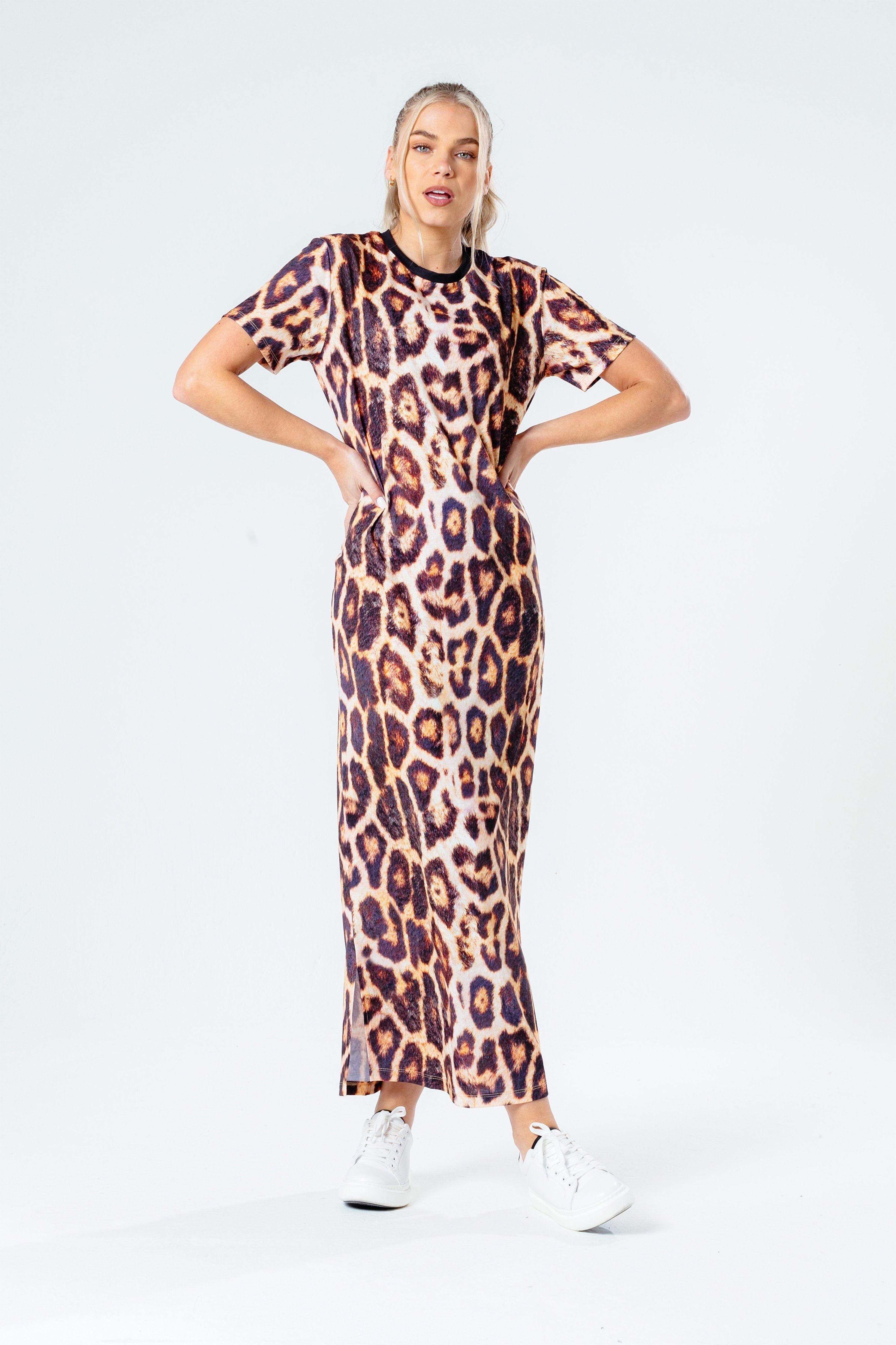 HYPE LEOPARD WOMEN'S MAXI DRESS