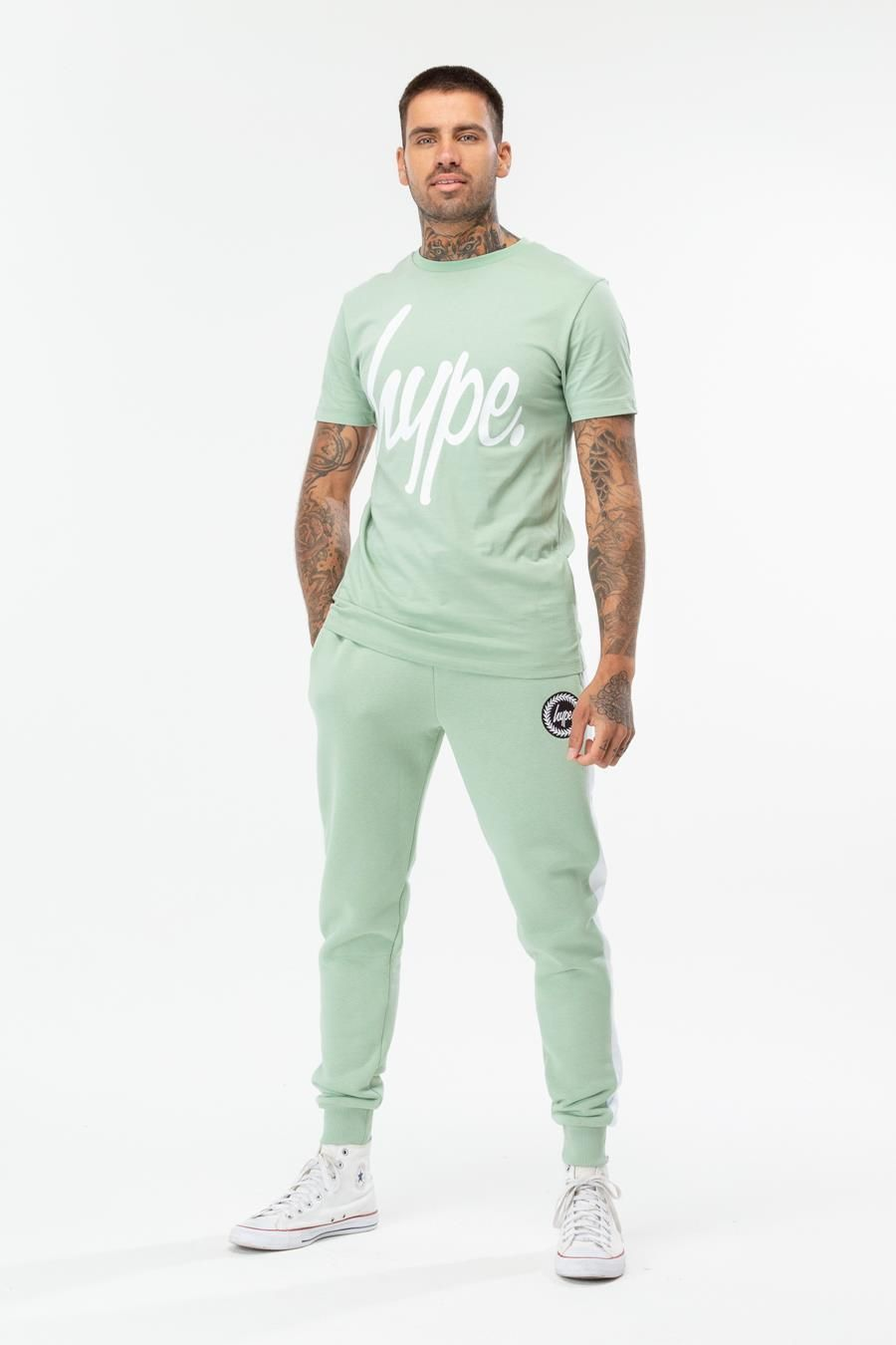 Hype Olive Script Mens T-Shirt