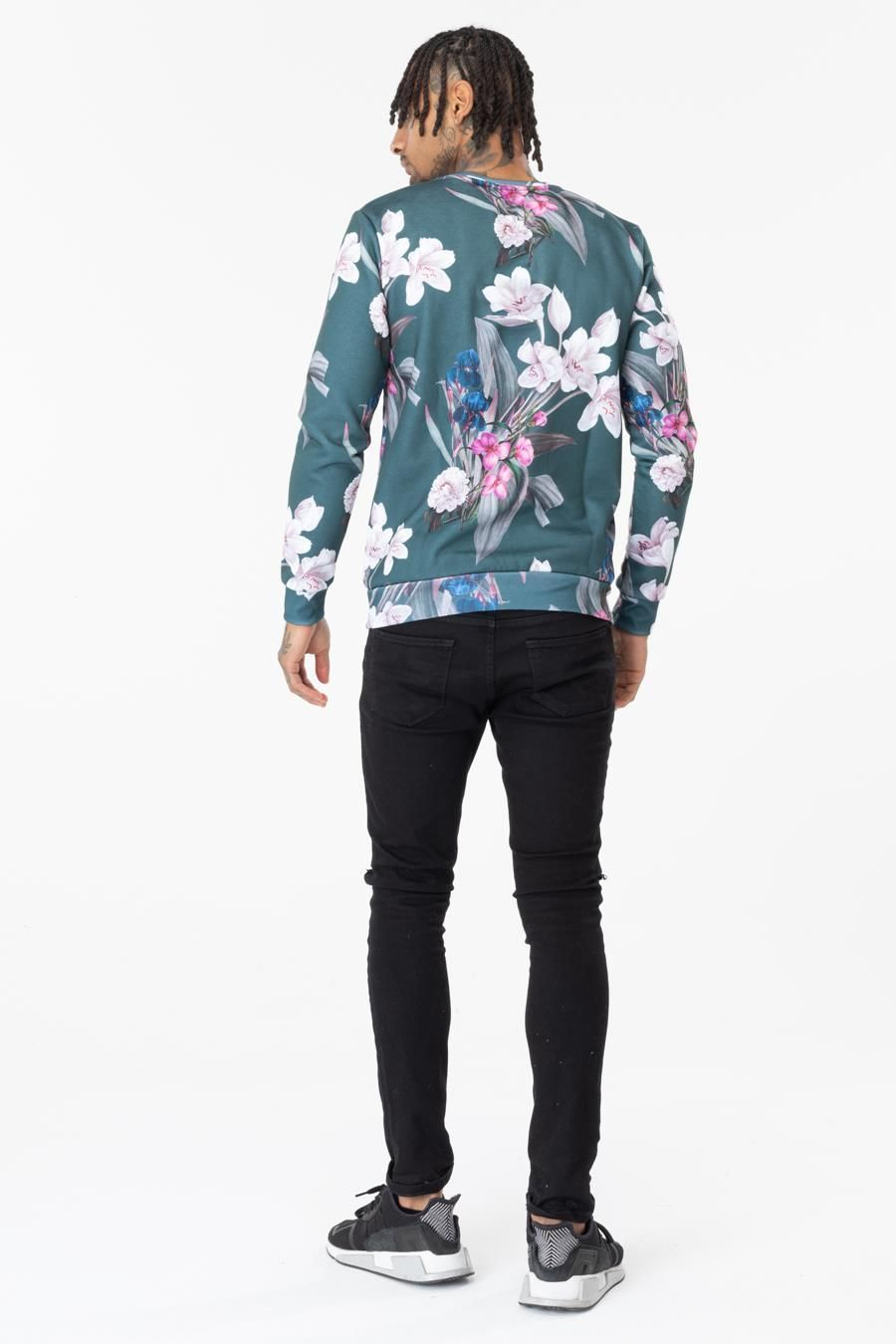 Hype Forest Blossom Mens Crew Neck