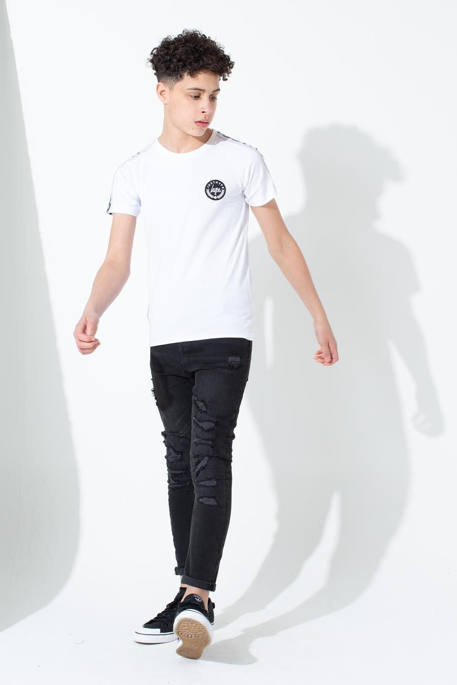 Hype White Speckle Tape Kids T-Shirt