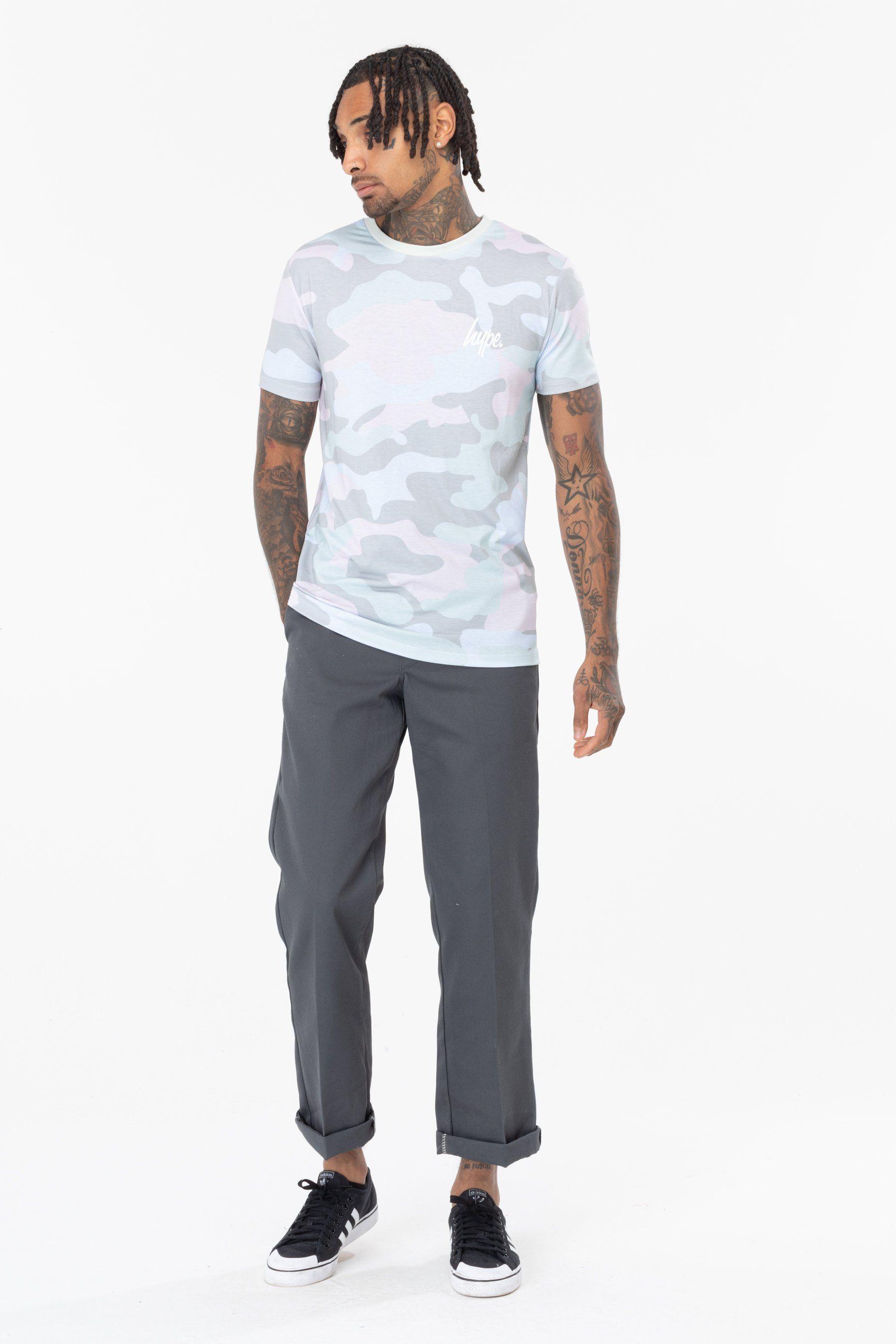 Hype Pistachio Camo Mens T-Shirt S