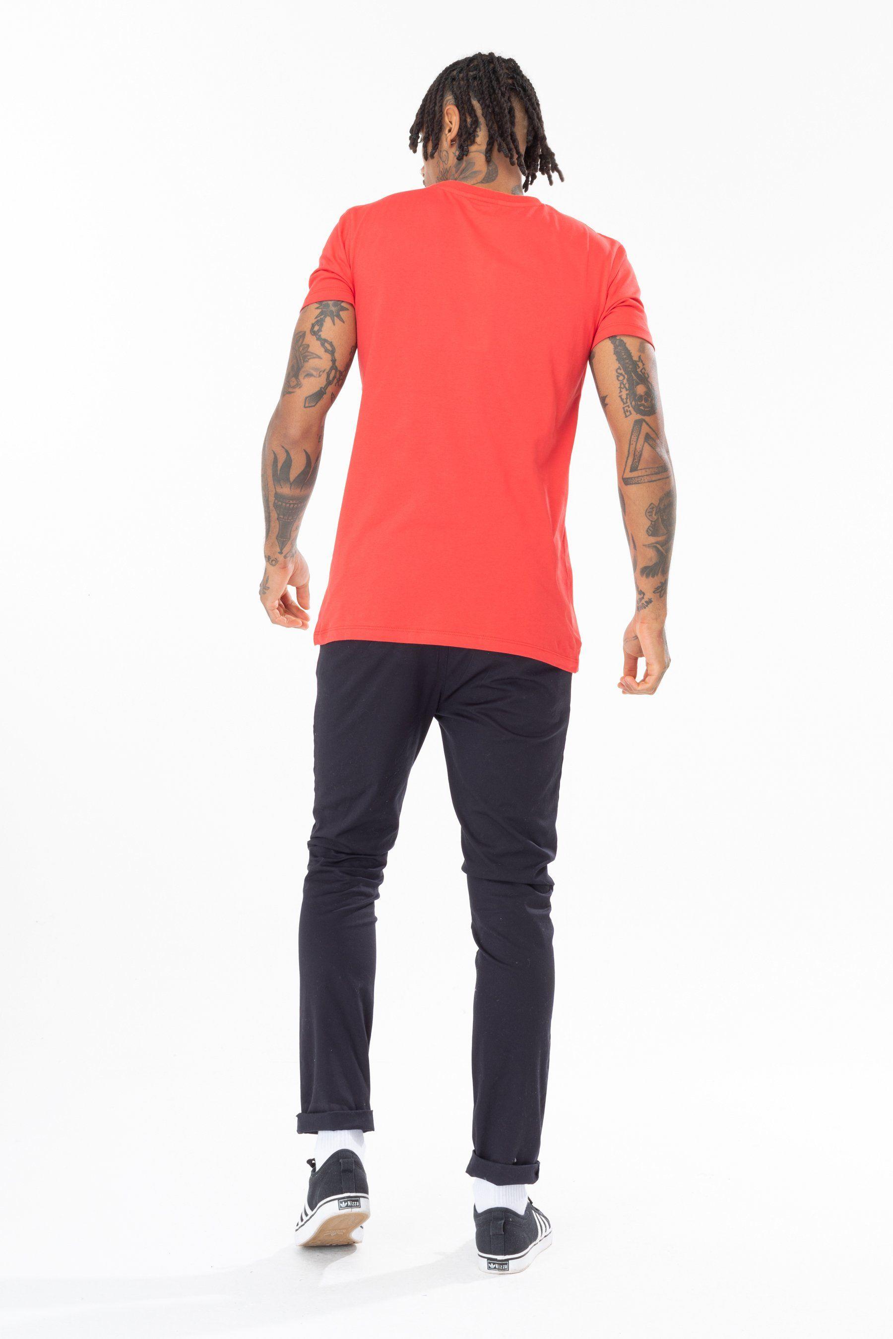 Hype Red Speckle Script Mens T-Shirt S