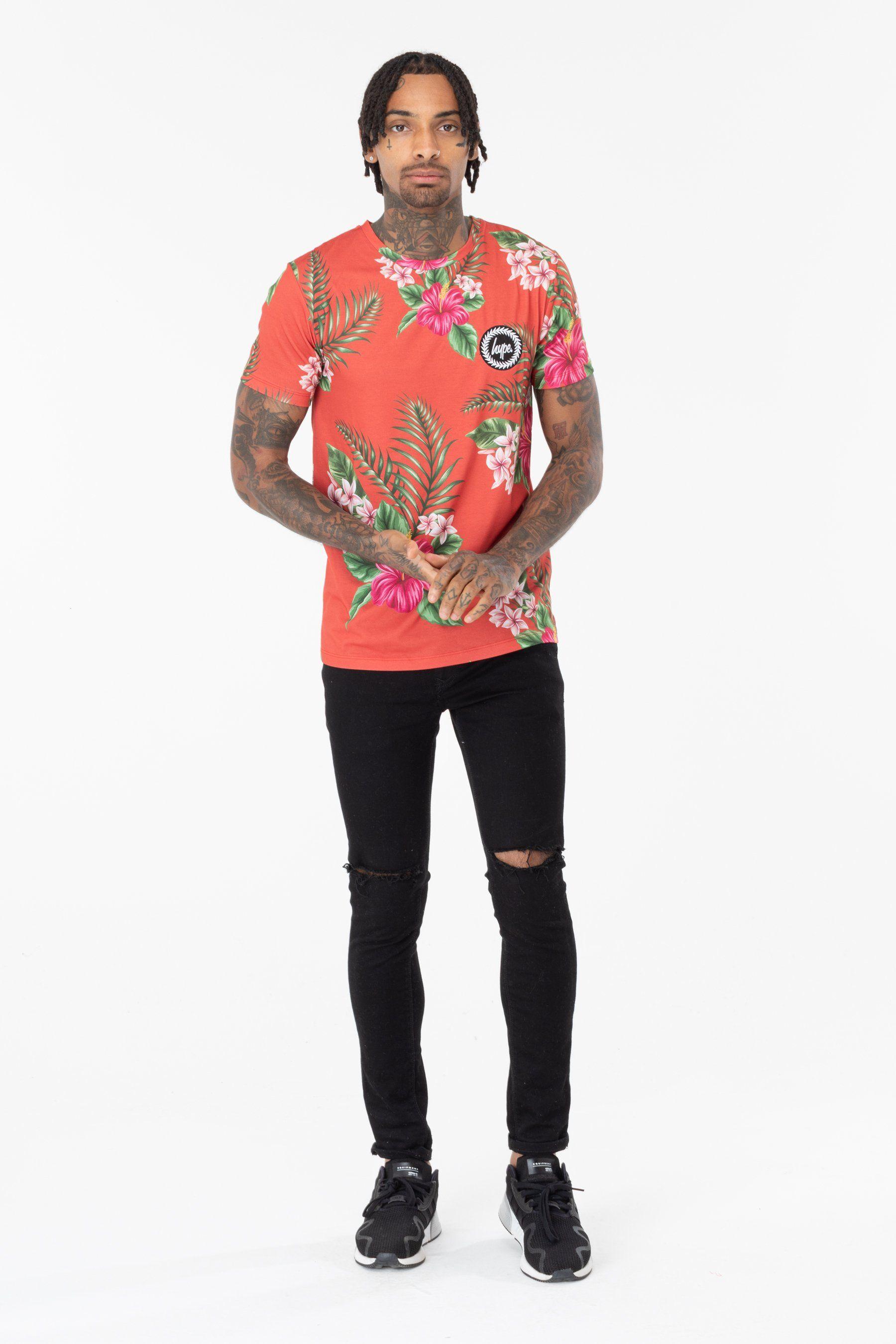 Hype Red Hawaii Mens T-Shirt