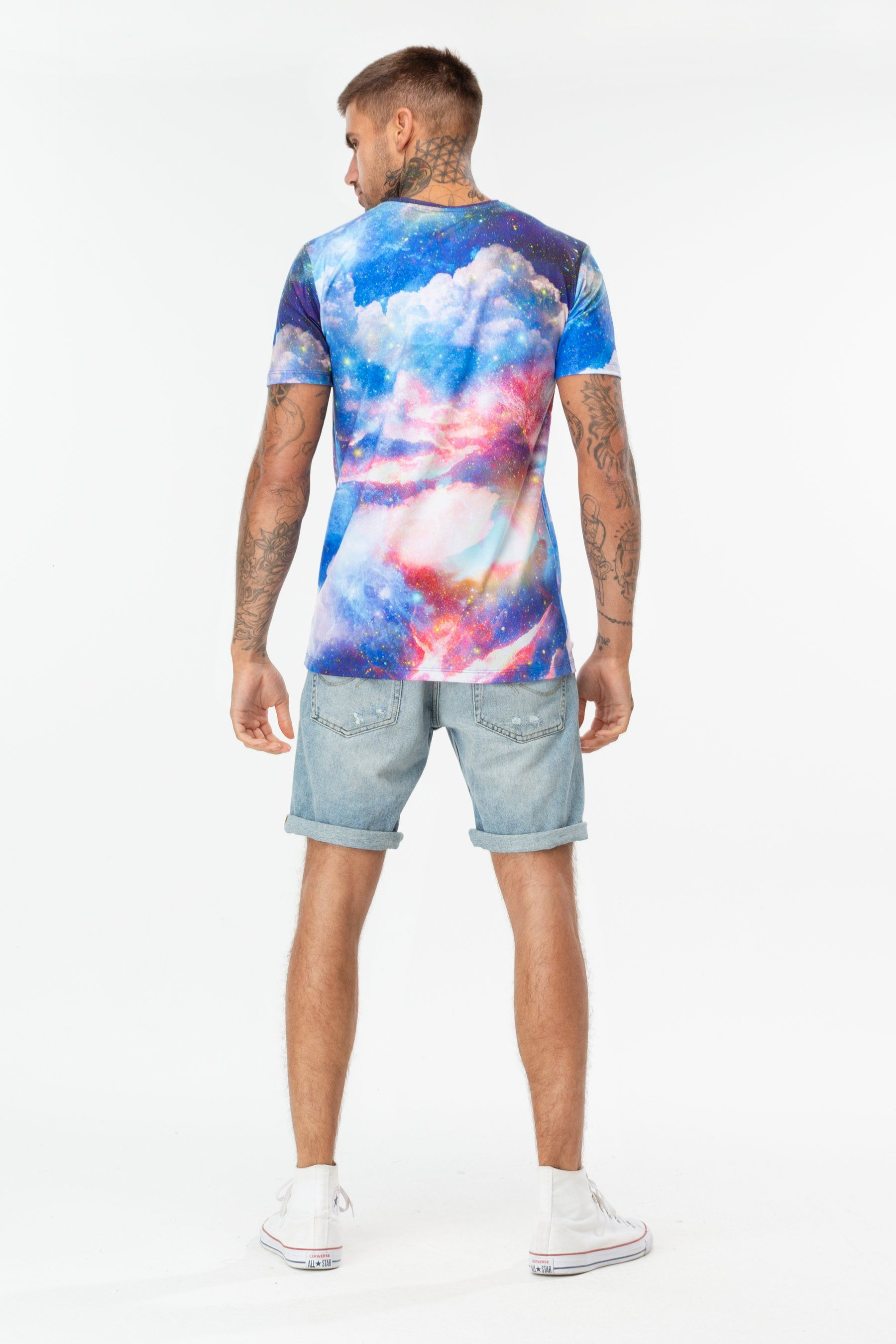 Hype Sunset Space Mens T-Shirt