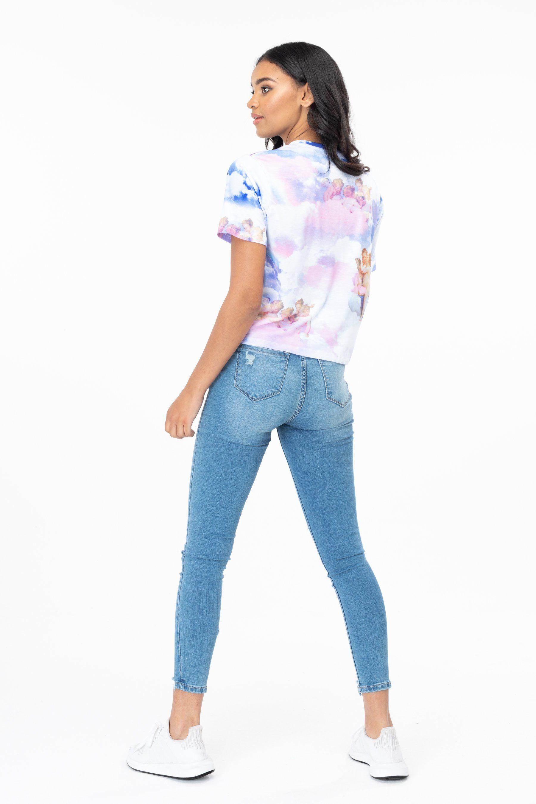 Hype Cherub Sky Womens Crop T-Shirt