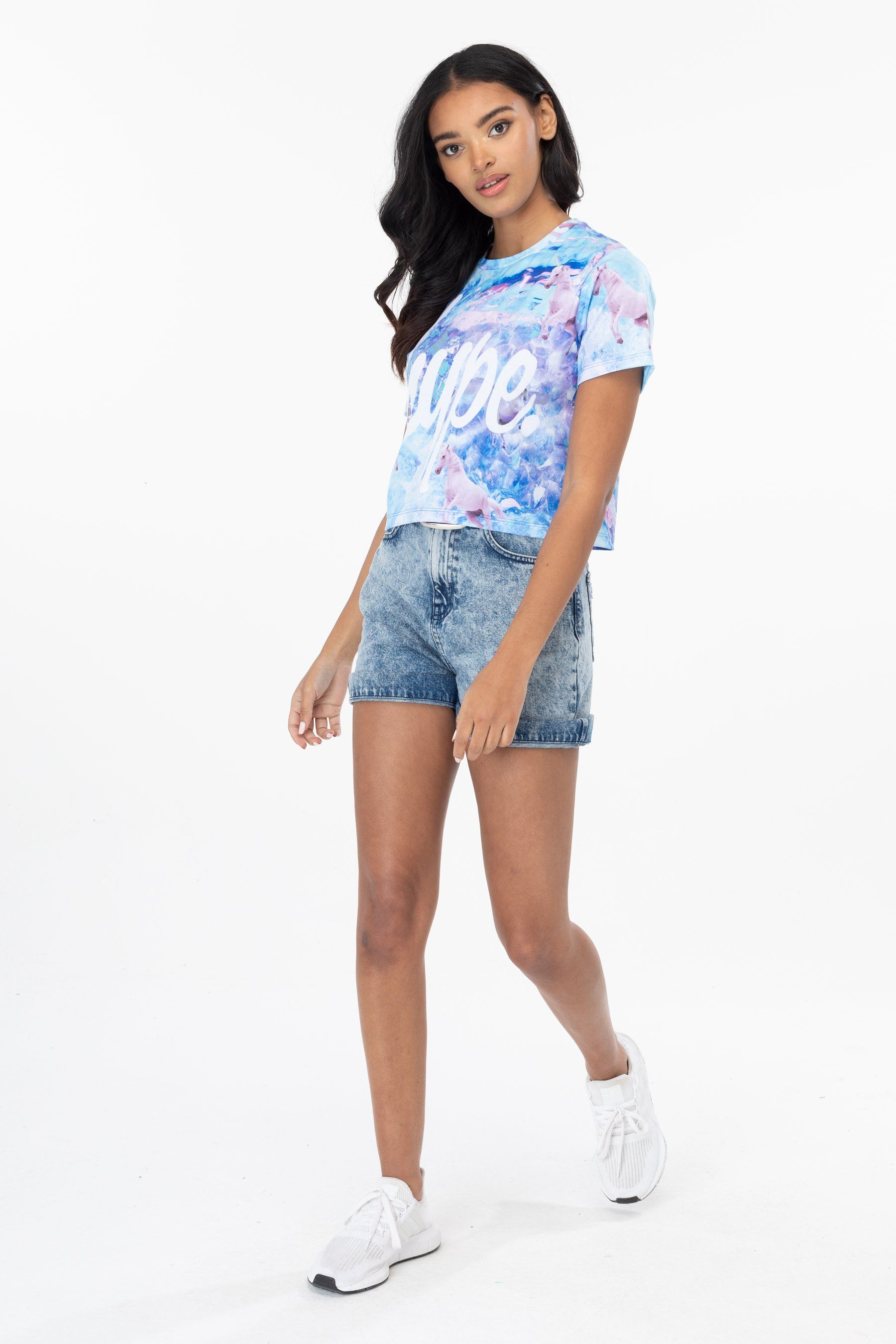 Hype Unicorn Dream Womens Crop T-Shirt 8