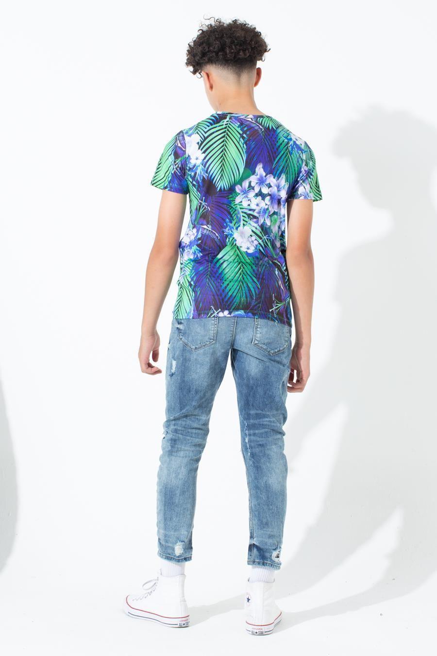 Hype Cyan Palm Kids T-Shirt 7-8Y