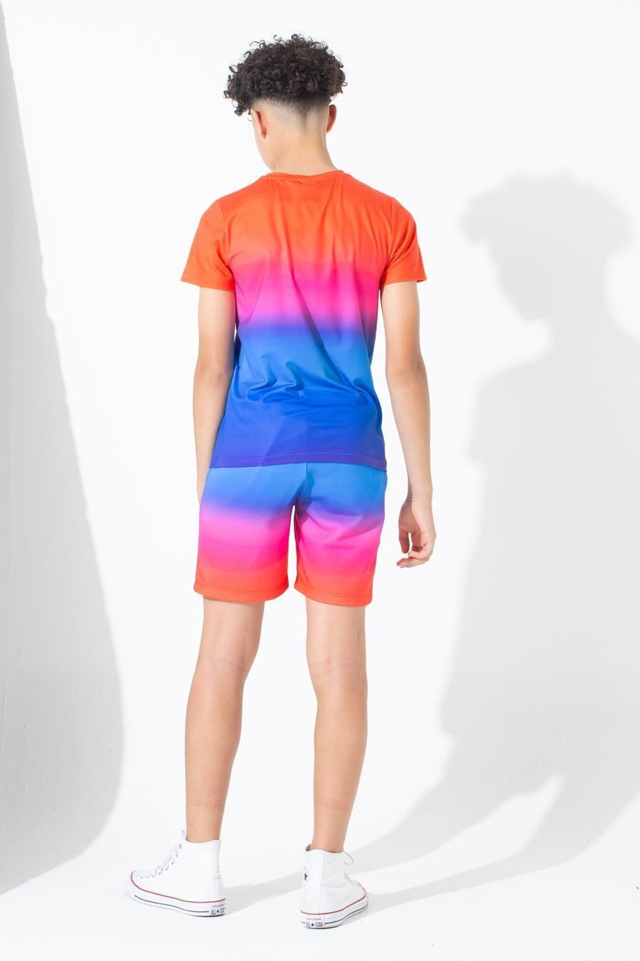 Hype Red Rainbow Fade Kids T-Shirt