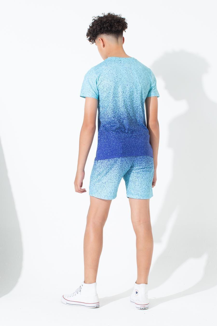 Hype Mint Blue Speckle Fade Kids T-Shirt 9-10Y