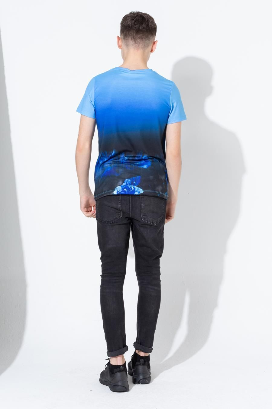 Hype Blue Dripping Rose Kids T-Shirt