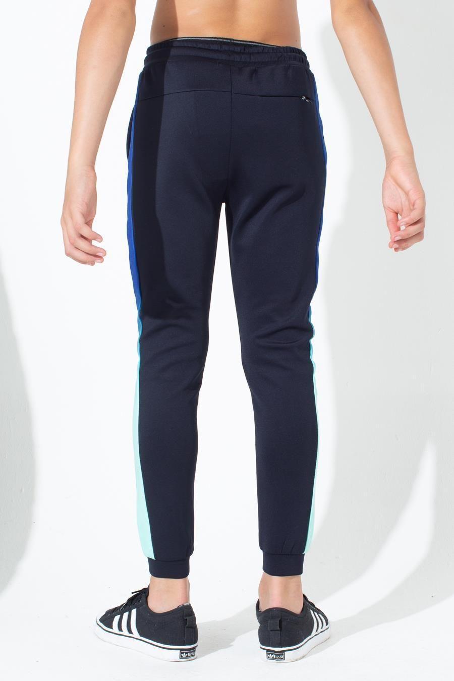 Hype Mint Blue Fade Side Stripe Kids Track Pants 11-12Y