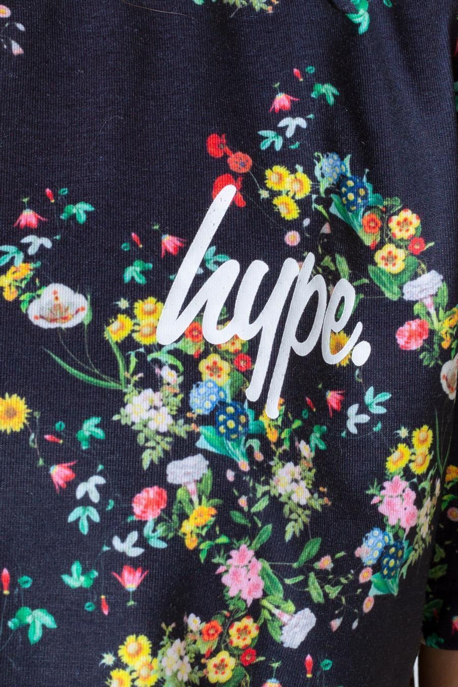 Hype Ditsy Floral Kids Crop T-Shirt 11-12Y