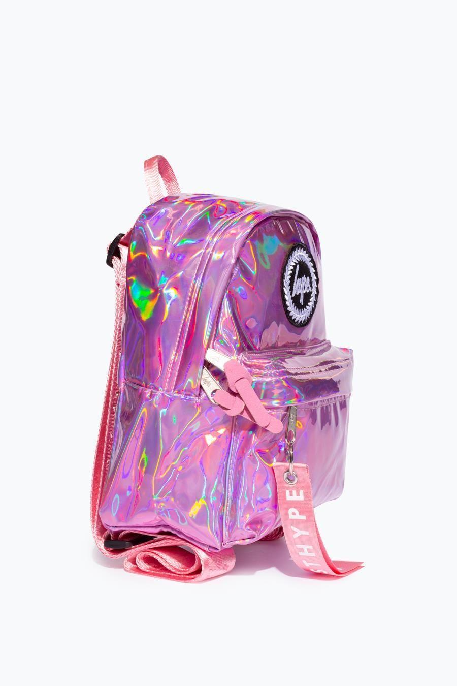 Hype Pink Holo Mini Backpack