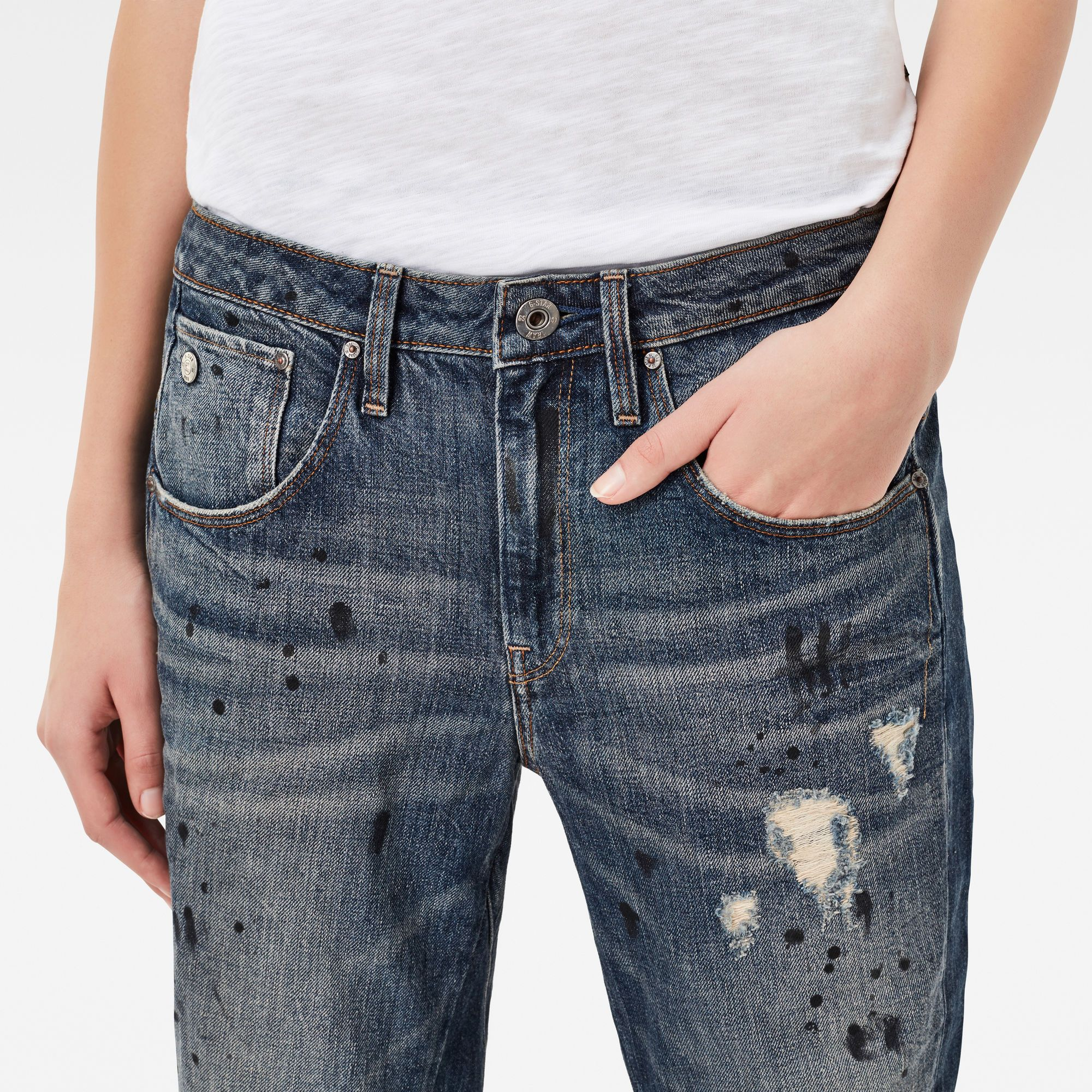 G-Star RAW Arc 3D Low Waist Boyfriend 7/8 Length Jeans