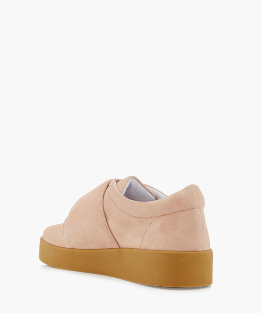 Alby blush suede sneakers