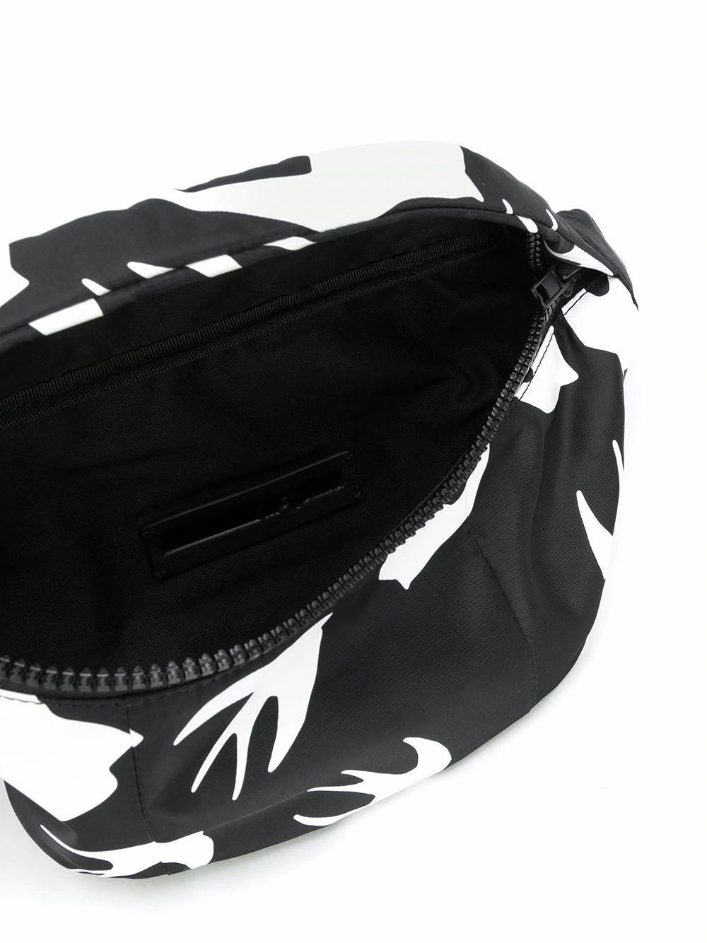 MCQ BY ALEXANDER MCQUEEN MEN'S 620732R4C261000 BLACK POLYAMIDE BELT BAG