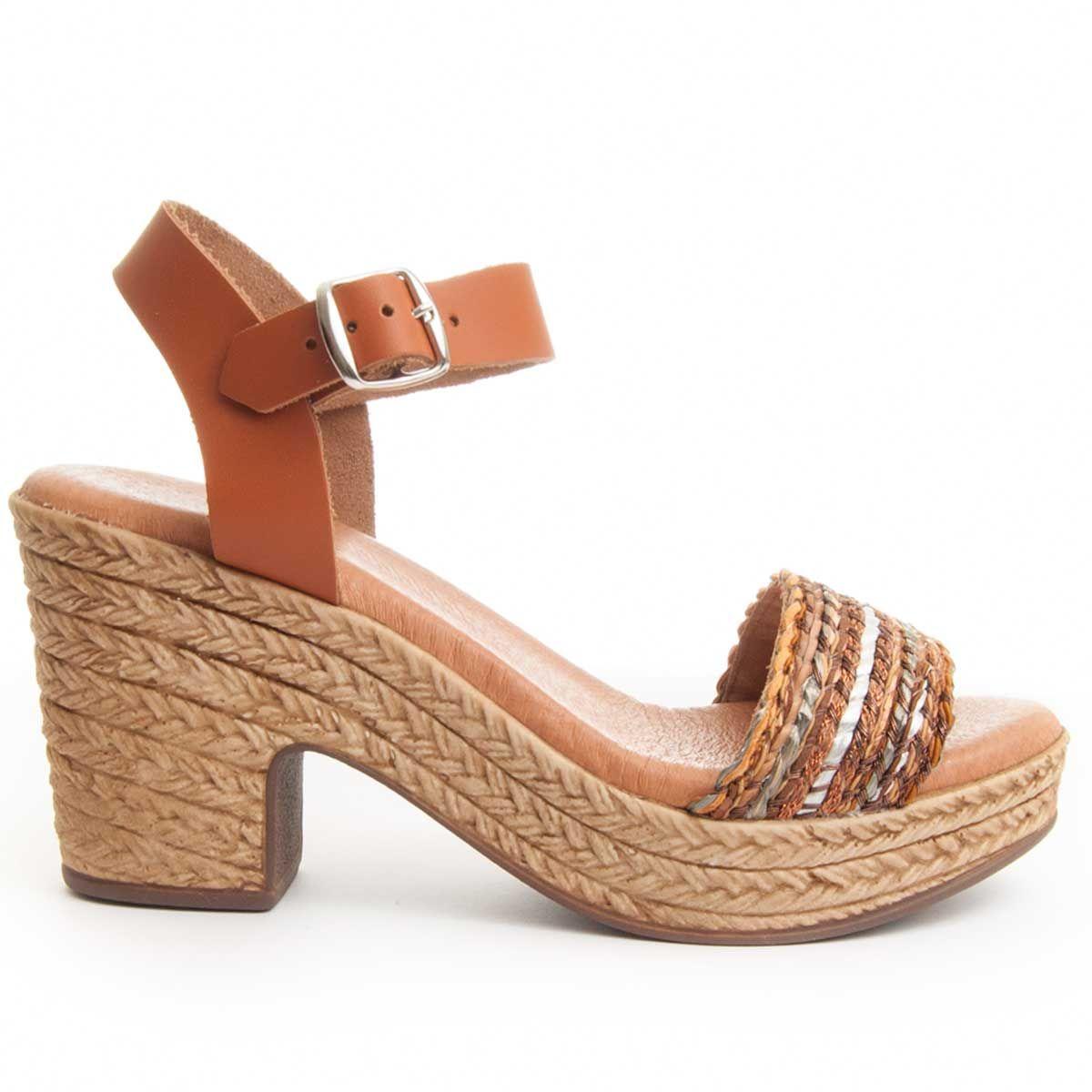 Purapiel Heel Sandal in Multicolour