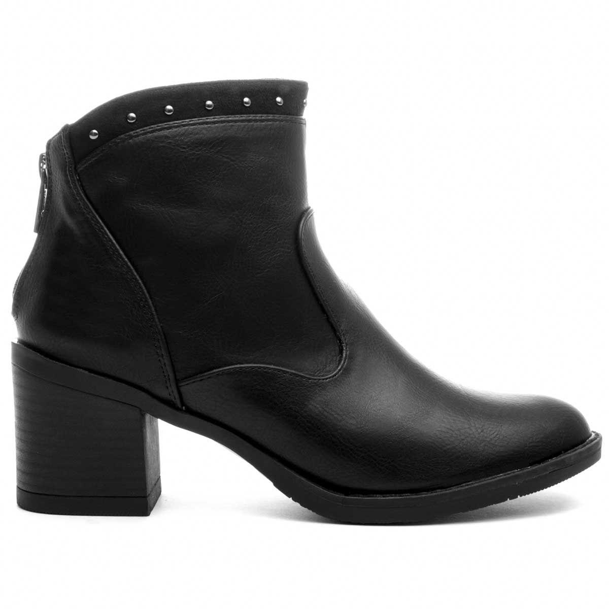 Montevita Heeled Ankle Boot in Black