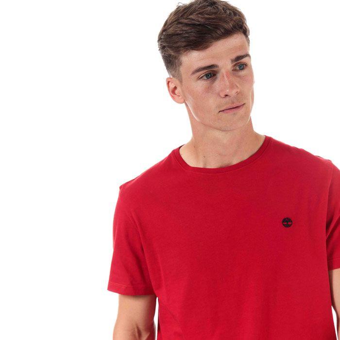 Men's Timberland TFO Logo Slim T-Shirt in Red