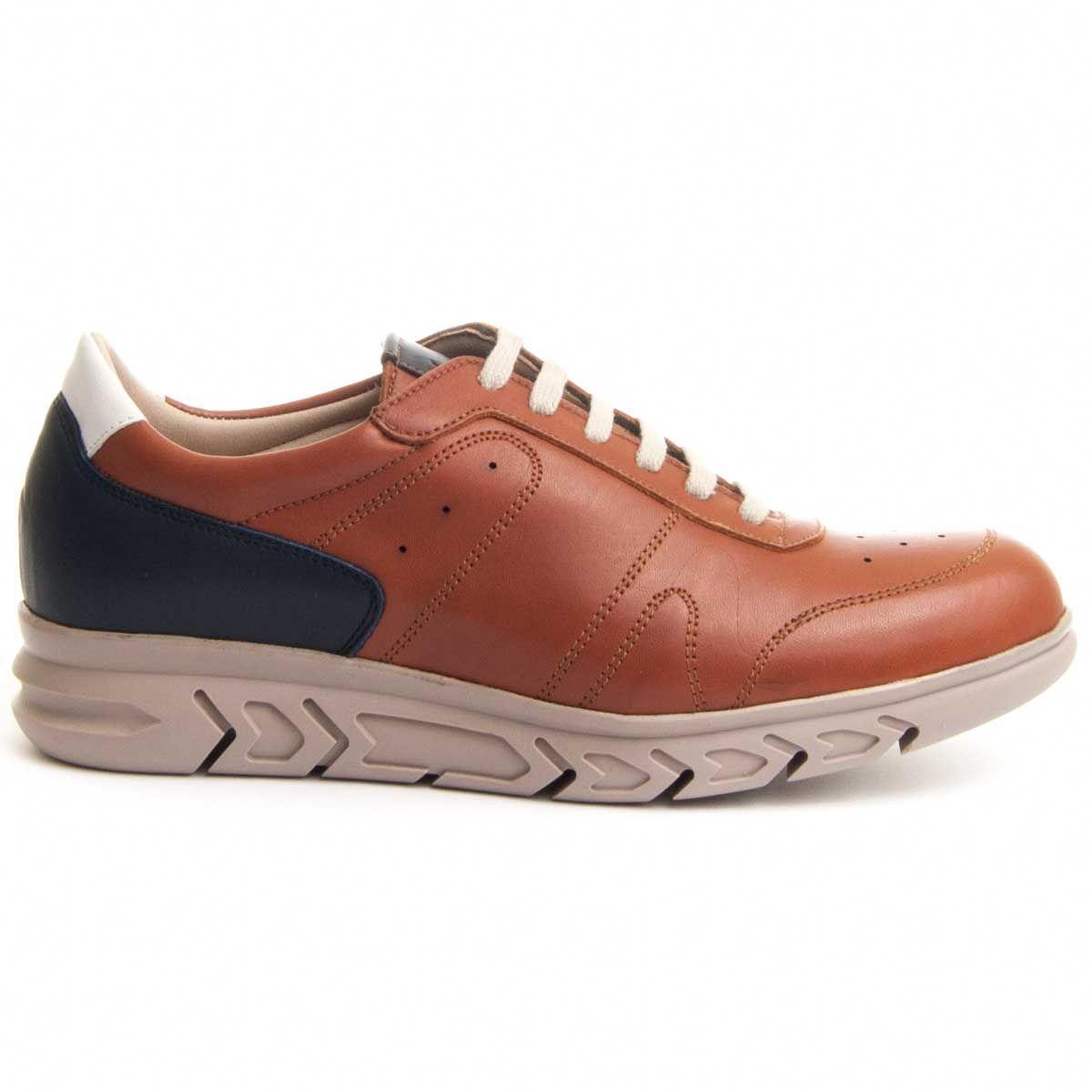 Purapiel Comfortable Sneaker in Camel