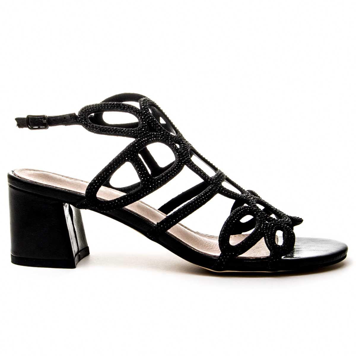 Montevita Block Heel Sandal in Black