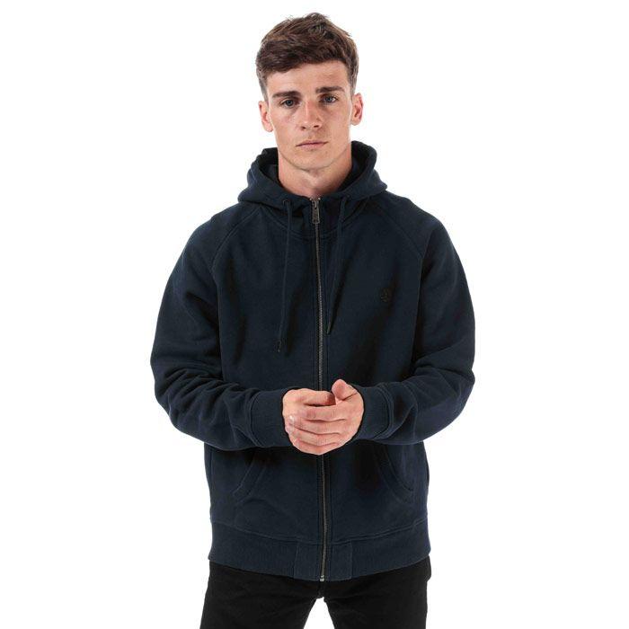 Men's Timberland Basic Zip Hoodie in Navy