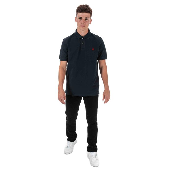 Men's Timberland Miller Rivers Polo Shirt in Navy