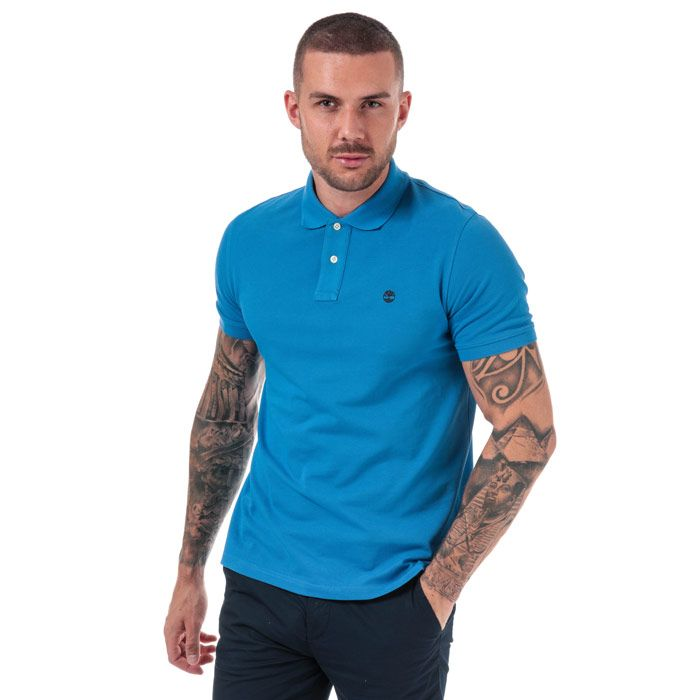 Men's Timberland Millers River Polo Shirt in Blue