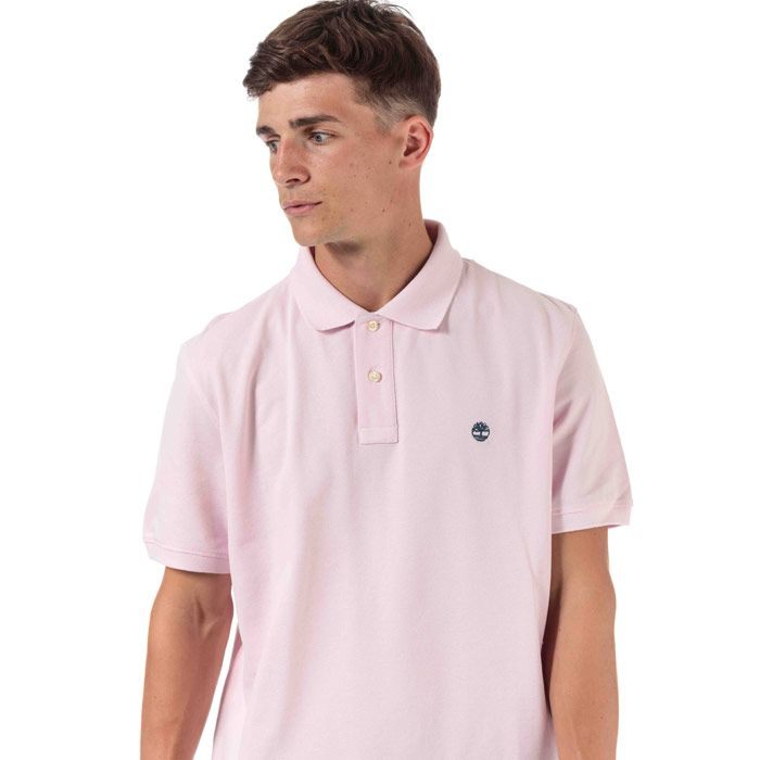 Men's Timberland Miller Rivers Polo Shirt in Pink