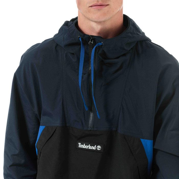 Men's Timberland YC Trial Pullover Jacket in Navy