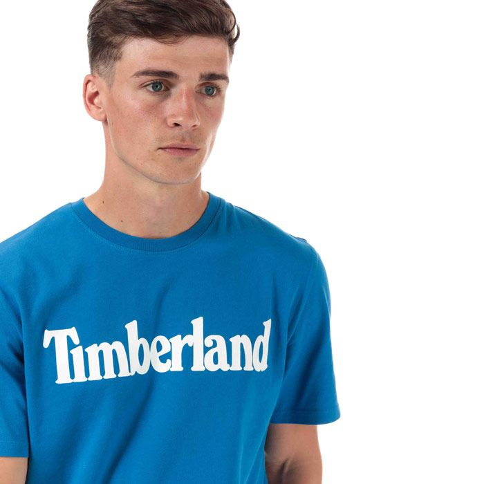 Men's Timberland Kennebec River Brand T-Shirt in Blue
