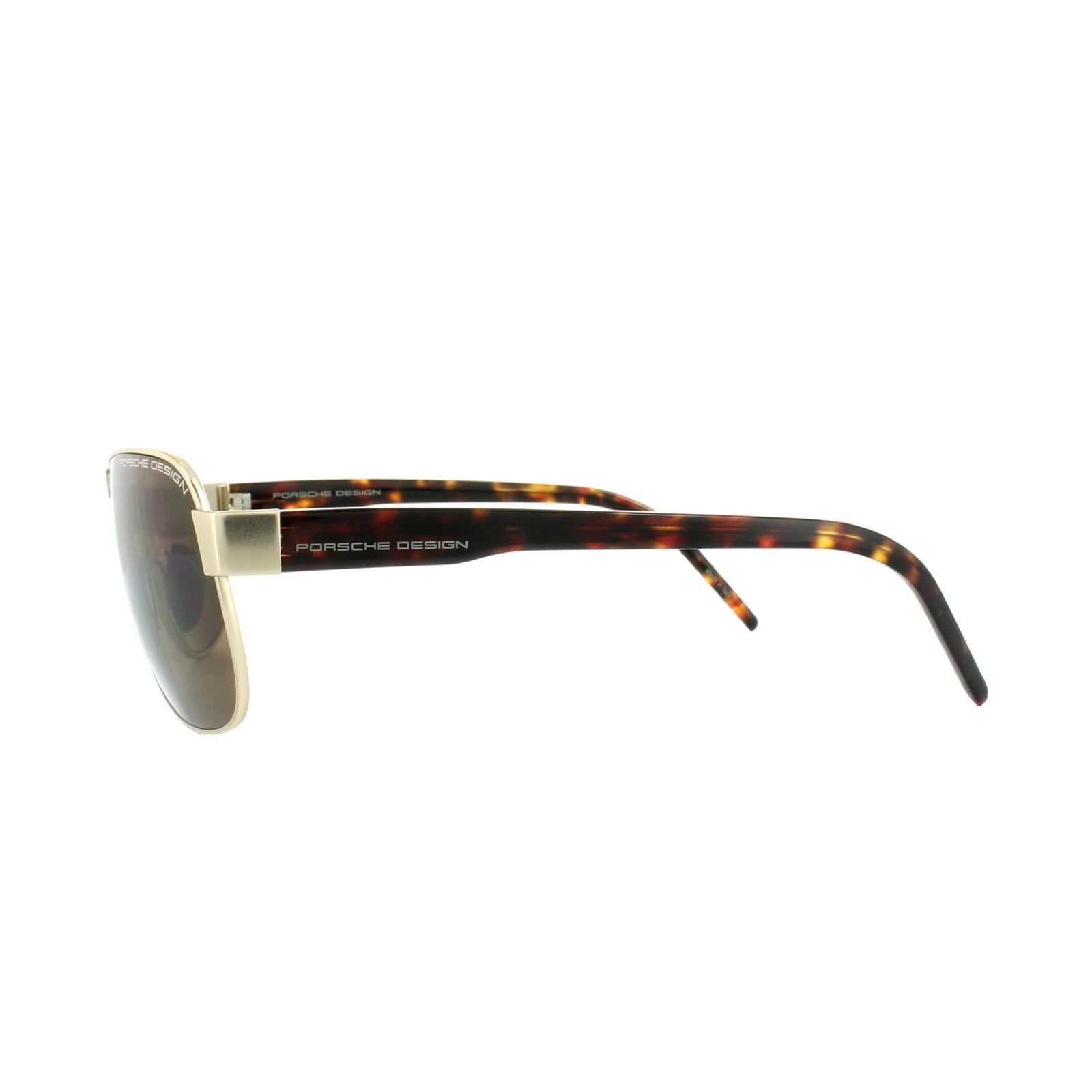 Porsche Design Sunglasses P8633 B Light Gold Havana Brown