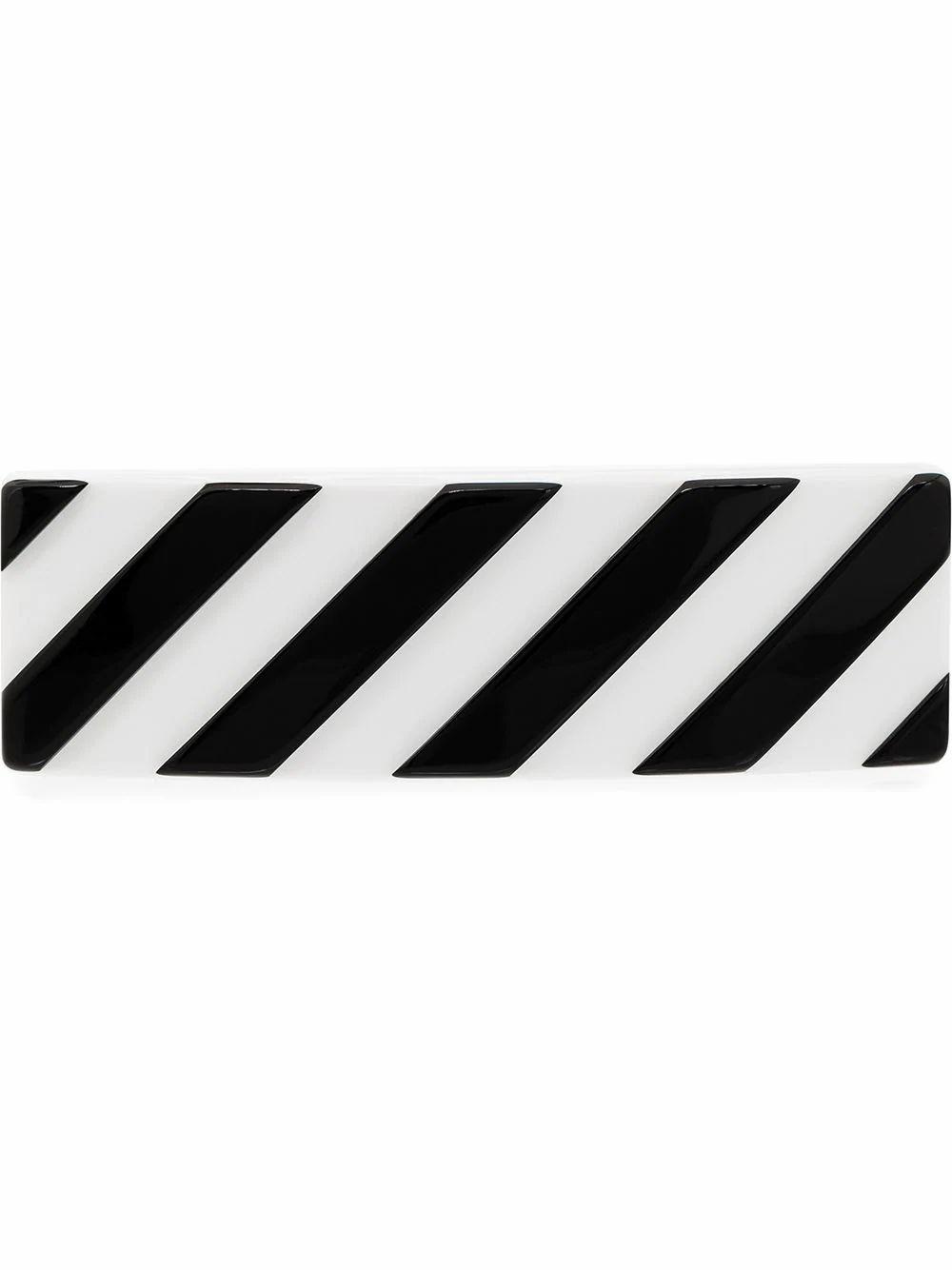 OFF-WHITE WOMEN'S OWZG025S20PLA0010110 WHITE PVC HAIR CLIP