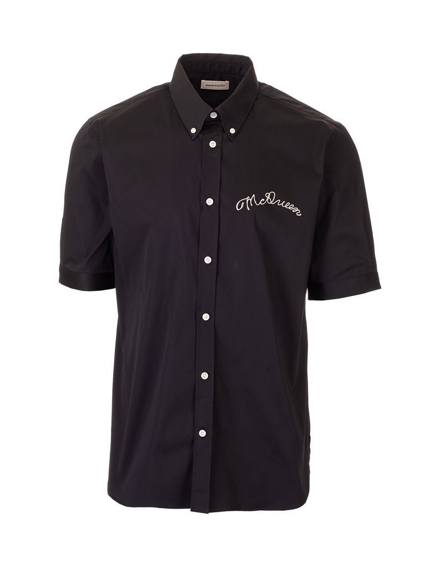 ALEXANDER MCQUEEN MEN'S 599879QON191000 BLACK COTTON SHIRT