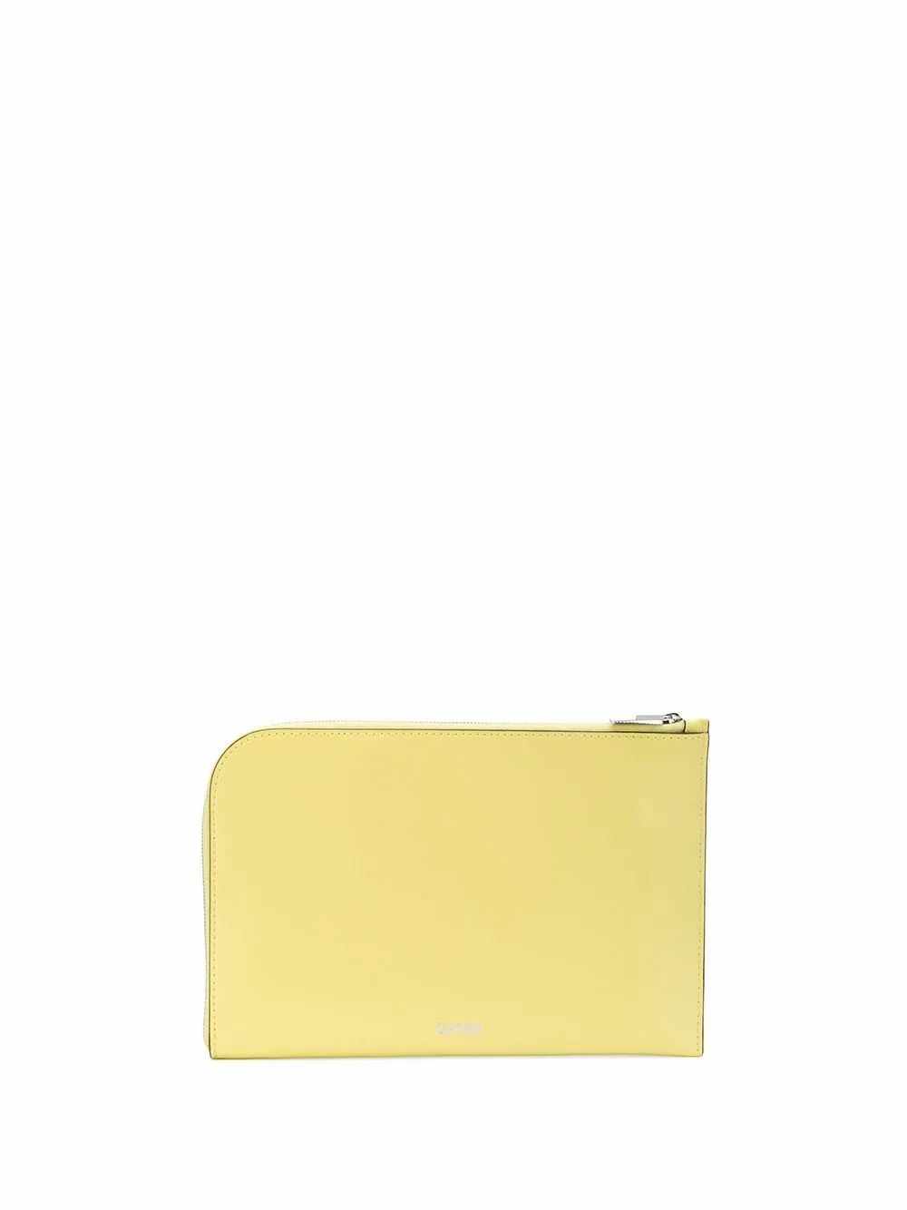 GANNI WOMEN'S A2167336 YELLOW LEATHER POUCH