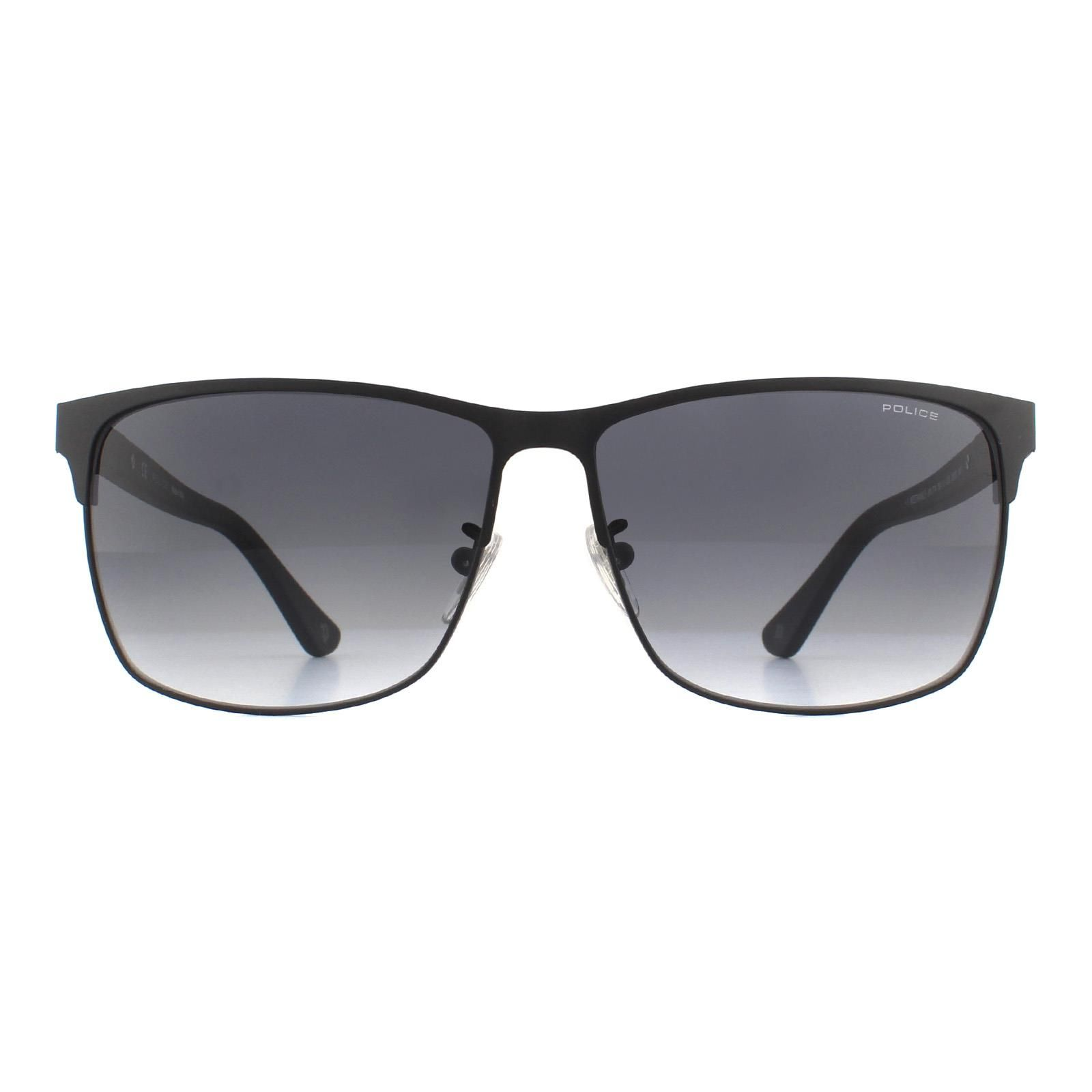 Police Sunglasses SPL774 Westwing 5 0SCQ Semi Matte Black Grey Gradient