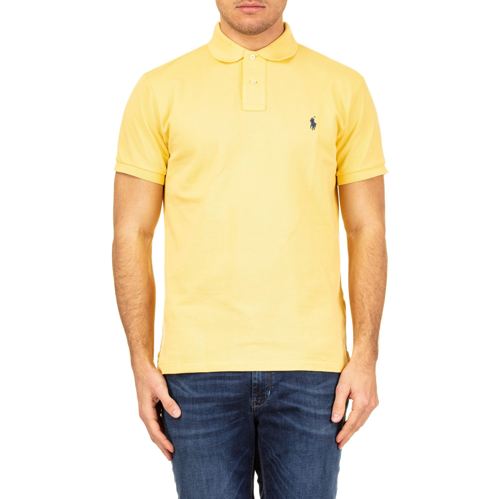 RALPH LAUREN MEN'S 710536856068 YELLOW COTTON POLO SHIRT