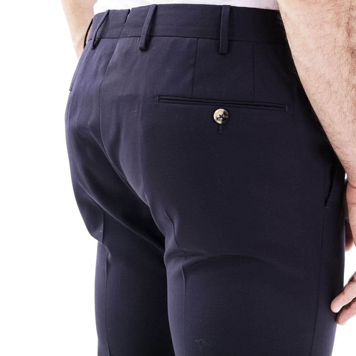 PT01 MEN'S CODF01Z00DLXTR18360 BLUE WOOL PANTS