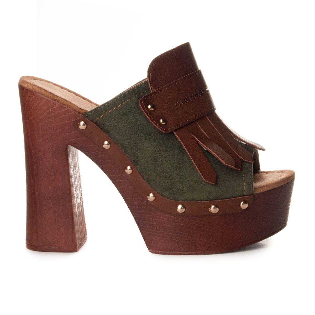 Montevita Platform Sandal in Green