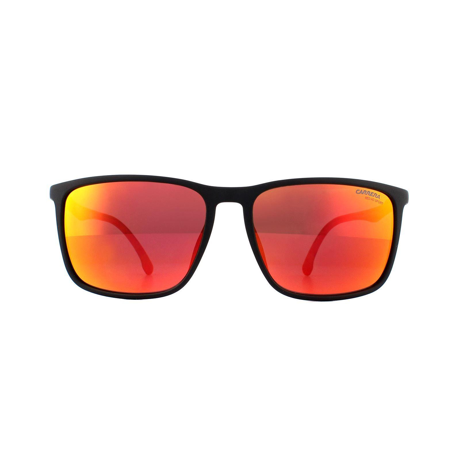 Carrera Sunglasses 8031/S BLX W3 Matte Black Red Red Mirror