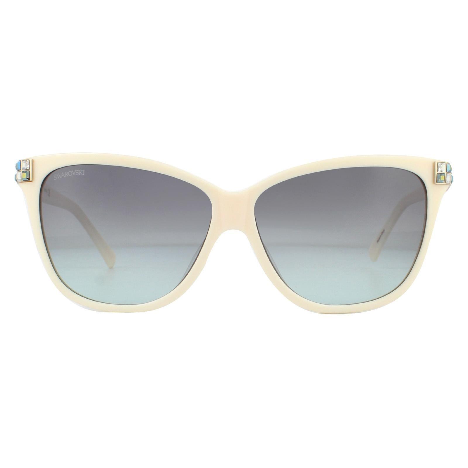 Swarovski Sunglasses SK0137 57B Shiny Beige Gradient Smoke
