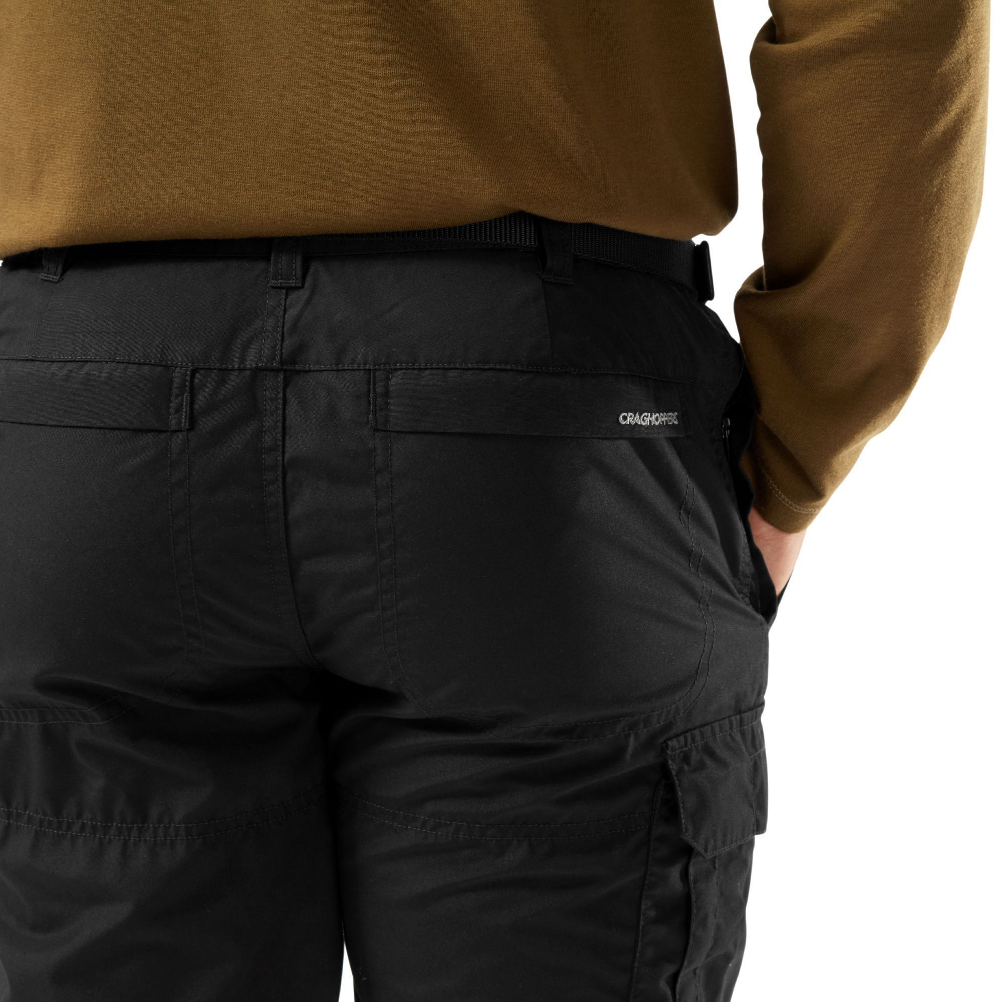 Craghoppers Mens Kiwi Slim Trousers (Black)