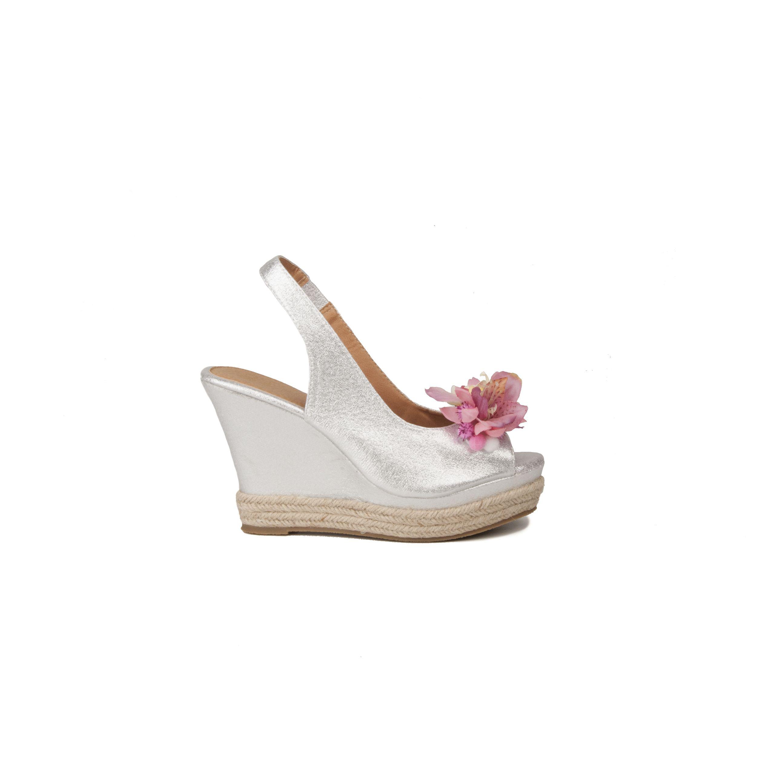 Maria Graor Wedge Sandal in Silver