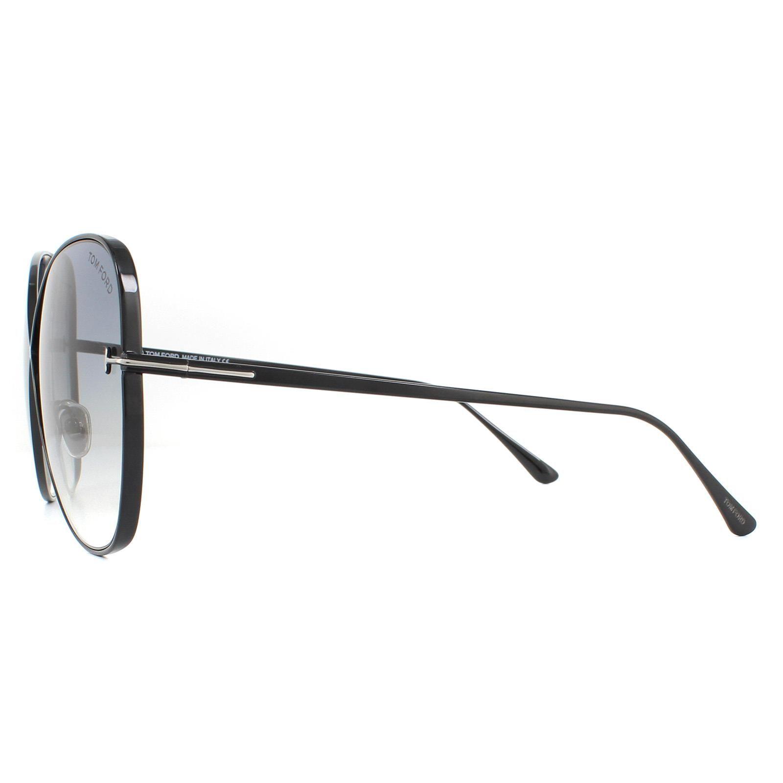 Tom Ford Sunglasses Nickie FT0842 01B Shiny Black Smoke Gradient