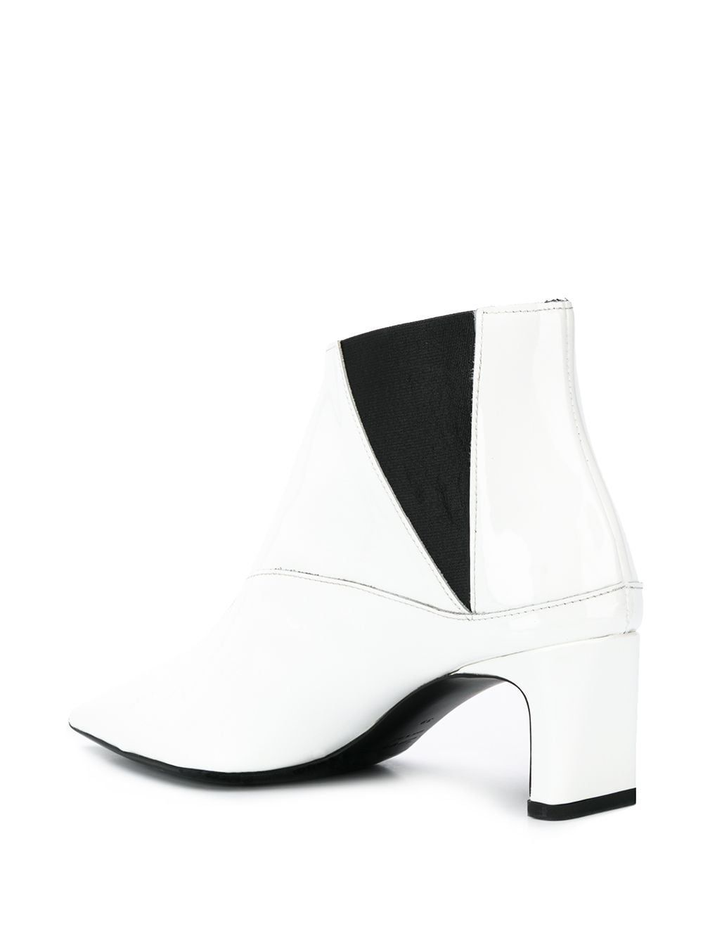 MCQ BY ALEXANDER MCQUEEN WOMEN'S 571847R26309000 WHITE LEATHER ANKLE BOOTS