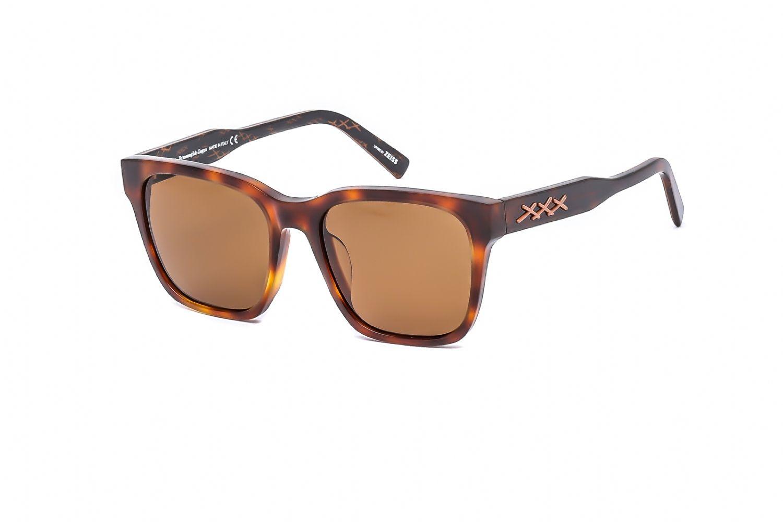 Ermenegildo Zegna Avaitor acetate Men Sunglasses Dark Havana / Roviex