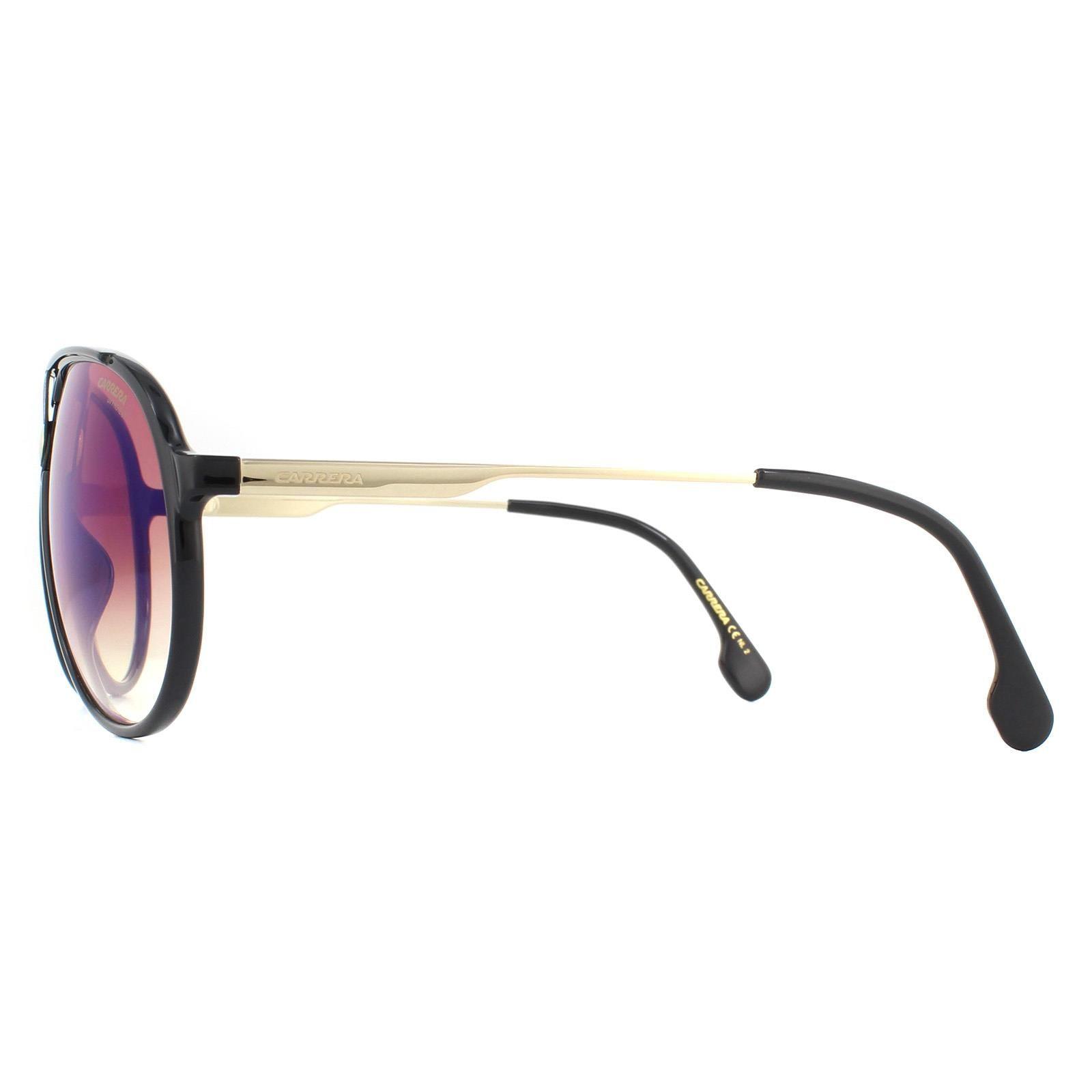 Carrera Sunglasses 1034/S 2M2 A8 Black Gold Brown Blue Gradient