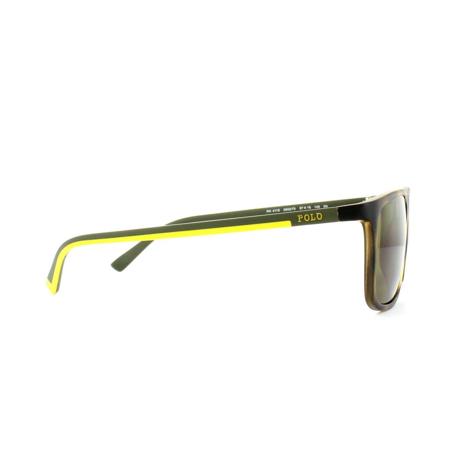 Polo Ralph Lauren Sunglasses 4115 560273 Vintage Dark Havana Olive Brown