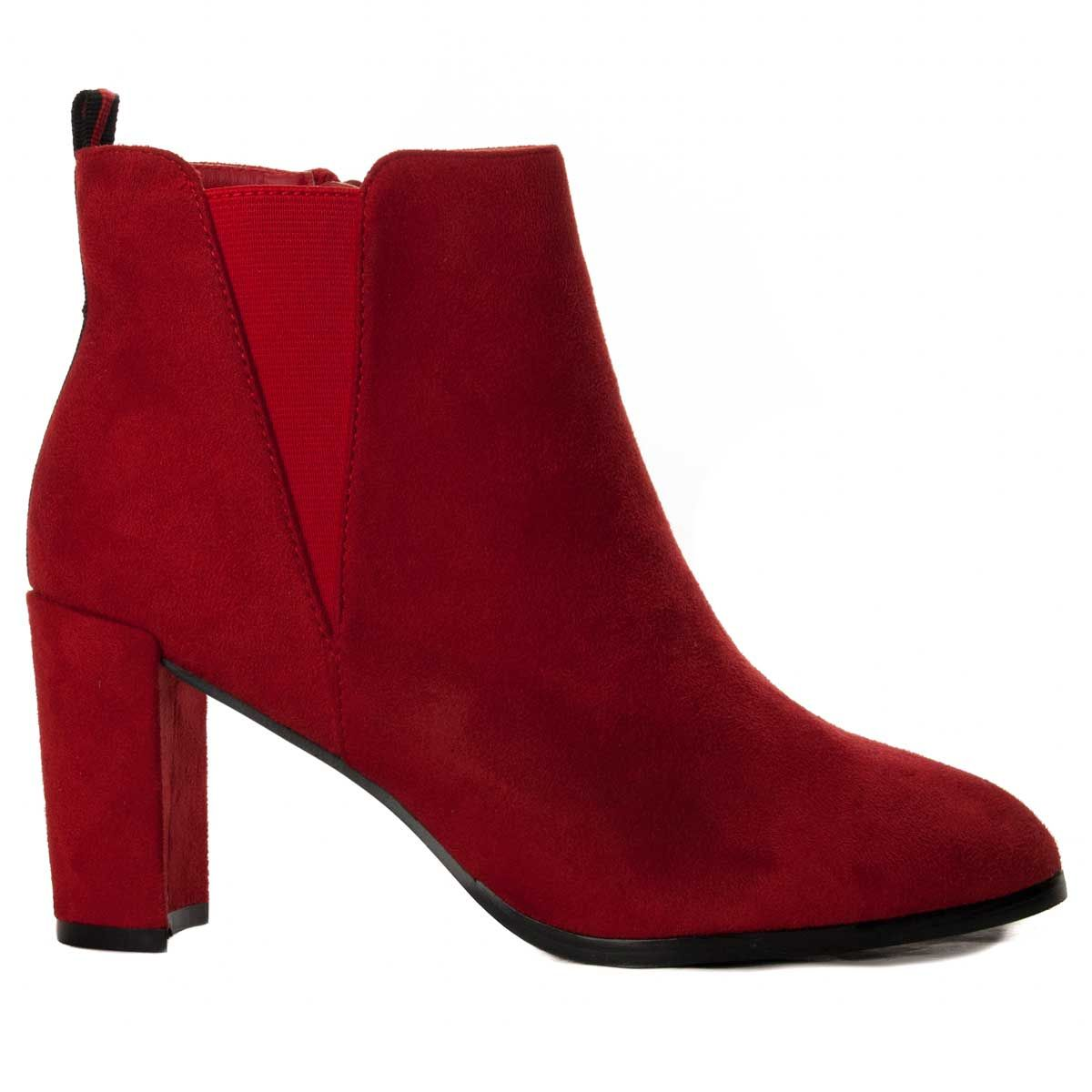 Montevita Heeled Ankle Boot in Red