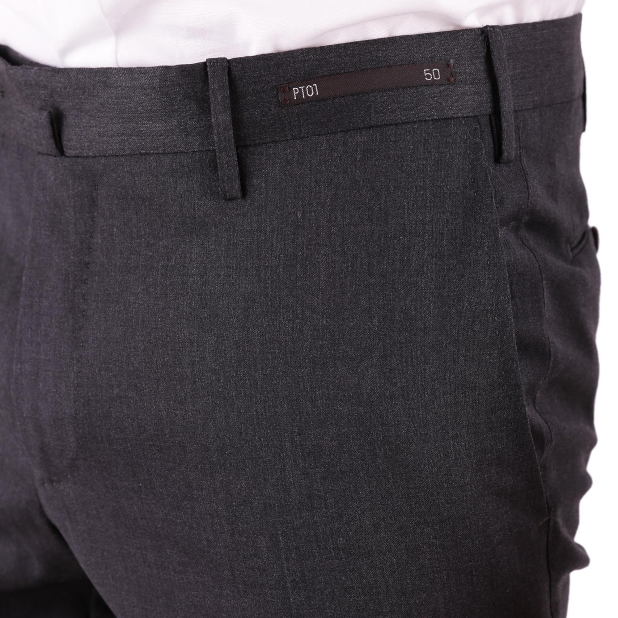 PT01 MEN'S DF01Z00CLACO060250 BLACK COTTON PANTS